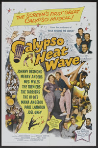 "Calypso Heat Wave (Columbia, 1957). One Sheet (27"" X 41""). Musical"