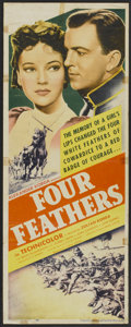 "Movie Posters:Action, Four Feathers (United Artists, 1939). Insert (14"" X 36""). Action....."