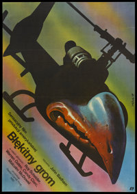 "Blue Thunder (Polfilm, 1984). Polish One Sheet (26.5"" X 38""). Action"
