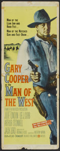 "Movie Posters:Western, Man of the West (United Artists, 1958). Insert (14"" X 36""). Western.. ..."