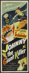"""Movie Posters:Animated, Johnny the Giant Killer (Lippert, 1953). Insert (14"""" X 36"""").Animated.. ..."""