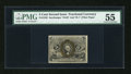 Fractional Currency:Second Issue, Fr. 1235 5c Second Issue PMG About Uncirculated 55....