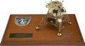 Explorers:Space Exploration, Apollo 10 Lunar Module Model on a Plaque Directly from the PersonalCollection of Mission Command Module Pilot John Young, Cer...