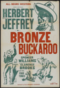 "Movie Posters:Black Films, The Bronze Buckaroo (Sack Amusement Enterprises, R-1940s). OneSheet (28"" X 41""). Black Films.. ..."