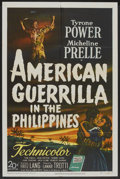 """Movie Posters:War, American Guerrilla in the Philippines (20th Century Fox, 1950). OneSheet (27"""" X 41""""). War.. ..."""