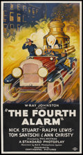 "Movie Posters:Drama, The Fourth Alarm (Continental, 1930). Three Sheet (41"" X 81"").Drama.. ..."