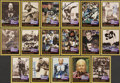 Football Collectibles:Others, 1991 Pro Football Hall of Fame Signed Card Collection (32). ...