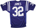 Football Collectibles:Uniforms, Edgerrin James Signed Colts Jersey. ...