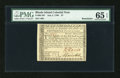 Colonial Notes:Rhode Island, Rhode Island July 2, 1780 $7 PMG Gem Uncirculated 65 EPQ....