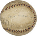 Autographs:Baseballs, Jimmie Foxx, Lefty Grove And Others Signed Baseball. ...