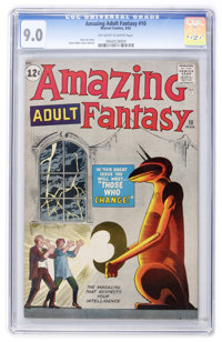 Amazing Adult Fantasy #10 (Marvel, 1962) CGC VF/NM 9.0 Off-white to white pages