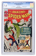 Silver Age (1956-1969):Superhero, The Amazing Spider-Man #2 (Marvel, 1963) CGC FN/VF 7.0 White pages....