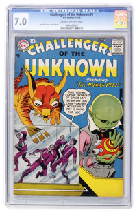Challengers of the Unknown #1 (DC, 1958) CGC FN/VF 7.0 Cream to off-white pages
