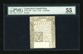 Colonial Notes:Connecticut, Connecticut June 7, 1776 5s Uncancelled PMG About Uncirculated55....