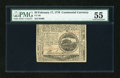 Colonial Notes:Continental Congress Issues, Continental Currency February 17, 1776 $4 PMG About Uncirculated55....