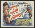"""Movie Posters:Adventure, Down to the Sea in Ships (20th Century Fox, 1949). Lobby Card Set of 8 (11"""" X 14""""). Adventure.. ... (Total: 8 Items)"""
