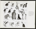 "Movie Posters:Animated, The Jungle Book (Buena Vista, 1967). Production Highlights Books(Multiple Pages, 8.5"" X 11""). Animated.. ... (Total: 3 Items)"