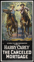 """Movie Posters:Western, The Canceled Mortgage (Aywon, R-Early 1920s). Three Sheet (41"""" X 81""""). Western.. ..."""