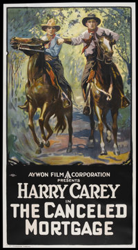"""The Canceled Mortgage (Aywon, R-Early 1920s). Three Sheet (41"""" X 81""""). Western"""