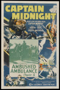 """Movie Posters:Serial, Captain Midnight (Columbia, 1942). One Sheet (27"""" X 41"""") Chapter Five -- """"Ambushed Ambulance."""" Serial.. ..."""
