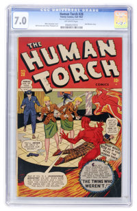 The Human Torch #28 (Timely, 1947) CGC FN/VF 7.0 Off-white pages