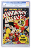 Golden Age (1938-1955):Science Fiction, Journey Into Unknown Worlds #37 (#2) (Atlas, 1950) CGC VF- 7.5 Off-white to white pages....