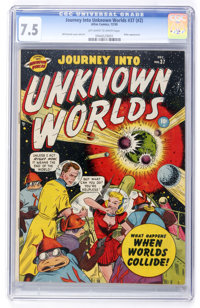 Journey Into Unknown Worlds #37 (#2) (Atlas, 1950) CGC VF- 7.5 Off-white to white pages