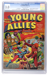 Young Allies Comics #1 (Timely, 1941) CGC GD/VG 3.0 Slightly brittle pages