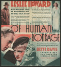 Movie Posters:Drama, Of Human Bondage Lot (RKO, 1934). Heralds (2). Drama.. ... (Total: 2 Items)