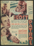 "Movie Posters:War, The Lost Patrol (RKO, 1934). Herald (8.75"" X 11.75""). War.. ..."