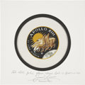 Explorers:Space Exploration, Apollo 13 Flown Beta Cloth Mission Insignia Directly from the Personal Collection of Mission Commander James Lovell, Certified...
