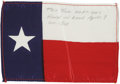 Explorers:Space Exploration, Apollo 8 Flown Texas Flag Directly from the Personal Collection of Mission Command Module Pilot James Lovell, Certified....