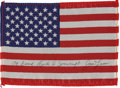 Explorers:Space Exploration, Apollo 8 Flown American Flag Directly from the Personal Collection of Mission Command Module Pilot James Lovell, Certified and...