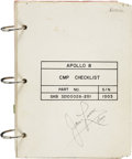 Explorers:Space Exploration, Apollo 8 Flown CMP Checklist Directly from the Personal Collection of Mission Command Module Pilot James Lovell, Certified and...