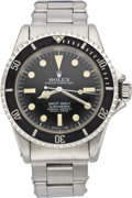 "Timepieces:Wristwatch, Rolex Submariner Ref. 5513, Four Line ""Feet First"" Dial, DomeCrystal, circa 1964. ..."