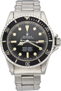 "Rolex Submariner Ref. 5513, Four Line ""Feet First"" Dial, Dome Crystal, circa 1964"