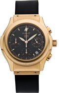 Timepieces:Wristwatch, Hublot Men's MDA 1810-8 Rose Gold Automatic Chronograph, circa 2000. ...