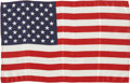 Explorers:Space Exploration, Gemini 7 Flown Large-Size American Flag Directly from the Personal Collection of Mission Pilot James Lovell, Certified and Sig...