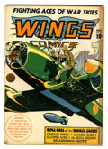 Golden Age (1938-1955):War, Wings Comics #33 (Fiction House, 1943) Condition: FN/VF....