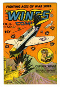 Golden Age (1938-1955):War, Wings Comics #50 (Fiction House, 1944) Condition: VF-....
