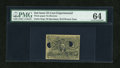 Fractional Currency:Second Issue, Fr. 1283SP 25c Second Issue Experimental Face PMG Choice Uncirculated 64.. ...
