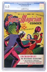 Super Magician Comics #4 (Street & Smith, 1942) CGC FN 6.0 Cream to off-white pages