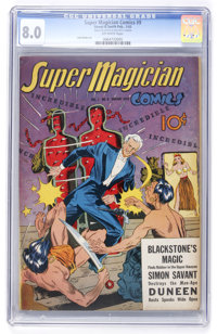 Super Magician Comics #9 (Street & Smith, 1943) CGC VF 8.0 Off-white pages