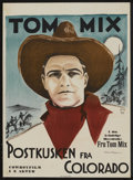 """Movie Posters:Romance, Told in Colorado (General Film, 1911). Swedish One Sheet (27.5"""" X 39.5""""). Romance.. ..."""