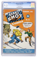 Golden Age (1938-1955):Adventure, Big Shot Comics #22 Rockford pedigree (Columbia, 1942) CGC NM- 9.2 Off-white to white pages....