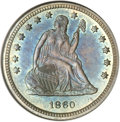 Proof Seated Quarters, 1860 25C PR65 NGC....