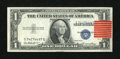Error Notes:Shifted Third Printing, Fr. 1614 $1 1935E Silver Certificate. Choice Crisp Uncirculated.. ...