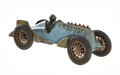 Antiques:Toys, Hubley Cast Iron Race Car With Action Flame Effect....