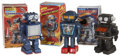Antiques:Toys, Trio of Japanese Made Battery Operated Robots in the Original Boxes.... (Total: 3 Items)