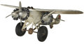 Antiques:Toys, Hubley America Cast Iron Tri-Motor Airplane....
